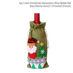 FengRise Christmas Decorations for Home Santa Claus Wine Bottle Cover Snowman Stocking Gift Holders Xmas Navidad Decor New Year Christmas Towels, Christmas Stockings, Christmas Holidays, Christmas Wreaths, Merry Christmas, Christmas Ornaments, Christmas 2019, Wine O Clock, Christmas Wine Bottles