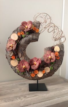Herfstworkshop okt 2016 Flower Show, Flower Art, Flora Design, Flower Festival, Artificial Flower Arrangements, Arte Floral, Christmas Centerpieces, Flower Decorations, Flower Designs
