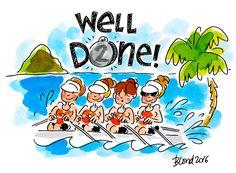 Well done! roeien zilver Olympische Spelen Rio 2016 by Blond-Amsterdam