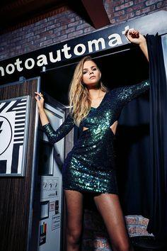Φόρεμα Glitter με παγιέτες | Σε Πράσινο και Μαύρο χρώμα | 29.99€