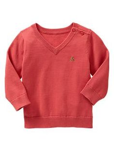 V-neck button sweater | Gap 6-12 mos size