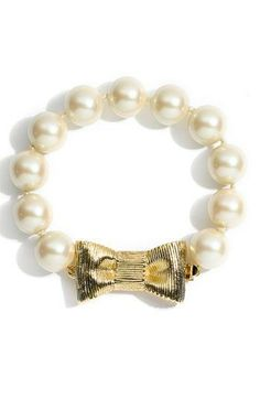 Kate Spade New York | Glam up a simple jeans and shirt with this pearls-and-gold bracelet. #KateSpade #bracelet