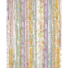 Floral Planks Printed Backdrop