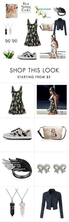 """Best Spring Looks"" by fatimka-becirovic ❤ liked on Polyvore featuring H&M, M&Co, Bling Jewelry, LE3NO, tomtop and tomtopstyle"