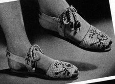 Vintage E-Pattern Crochet Women's Sandals Vintage Crochet Patterns, Vintage Knitting, Knit Patterns, Baby Knitting, Crocheting Patterns, Baby Sweater Patterns, Knit Baby Sweaters, Free Crochet, Knit Crochet