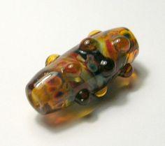 Handmade Lampwork Beads  Dragon Skin Focal Bead  by amazingbeads