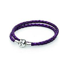 Pandora MOA - Double Purple Leather Bracelet, $50.00 (http://www.pandoramoa.com/double-purple-leather-bracelet/)