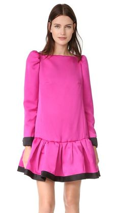 Marc Jacobs Long Sleeve Dress with Ruffle