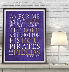 "ECU Pirates East Carolina inspired Customized Art Print- ""As for Me"" Parody- Unframed Print"