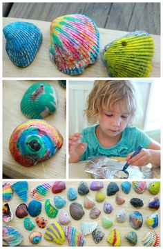 Have you tried melted crayon rocks with your kids yet? Melted crayon shells works the same way but makes an awesome beach trip art project!