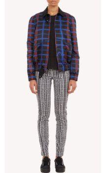 Kenzo Abstract-Plaid Silky Twill Jacket