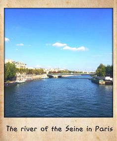 The river of the Seine in Paris