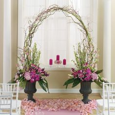Gorgeous idea for the altar Jesse this my idea for the tree, I think if we go with this ( make it a lil more rustic, this looks a touch too formal for me) the curly willow....I think mabey skip it... so the urns can get move to the pool for the rest of the ceremony???