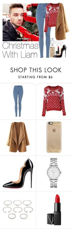 """""""Requested: Christmas With Liam"""" by zarryalmighty ❤ liked on Polyvore featuring Topshop, Casetify, Christian Louboutin, Marc by Marc Jacobs, Forever 21, NARS Cosmetics, OneDirection, LiamPayne, onedirectionoutfits and onedirectionsets"""