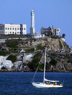 Alcatraz Island Lighthouse, California at Lighthousefriends.com
