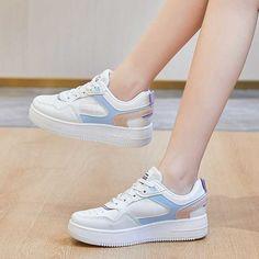 Women's #white blue casual shoe #sneaker letter print design Shoe Shop, Blue Shoes, Casual Shoes, Running Shoes, Shoes Sneakers, Lettering, Print Design, Sport, Runing Shoes