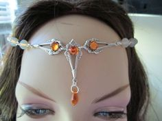Swarovski Crystal Circlet of the Solar Rays Elven Celtic Druid LARP costume cosplay renaissance. $24.00, via Etsy.
