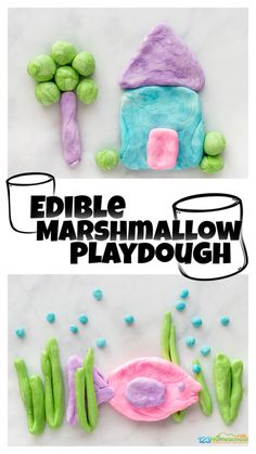 Looking for a simple and funplaydough recipe kids will love? Whip up a batch of thismarshmallow playdough that is not only quick, but anedible playodugh as well! Thismarshmallow play dough recipe is perfect for toddler, preschool, pre-k, kindergarten, first grade, 2nd grade, and up!