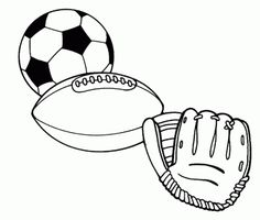 pages named pictures of sports | Sports balls - Free Printable Coloring Pages