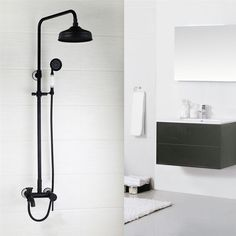 """Bathroom 8"""" ORB European Style Shower System with Tub Faucet Ceramic Handheld #Unbranded"""