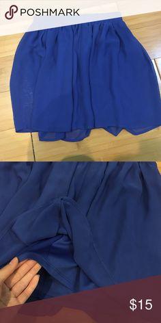 Blue Skater Skirt Elastic waistband, flattering, versatile Forever 21 Skirts