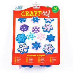 Tampons Flocons de Neige avec lesquels les Enfants pourront Décorer les Cartes de Vœux et Faire des Collages (Lot de 10): Amazon.fr: Jeux et Jouets