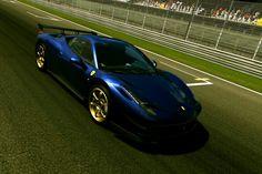 Ferrari 458 italia in tour de france blue^---^