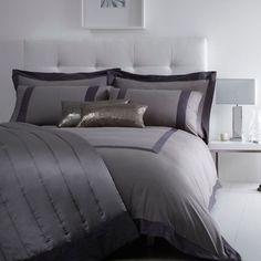 J by Jasper Conran Grey 'Mayfair' bed linen-   Debenhams
