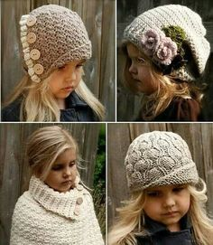 This Pin was discovered by Sev Crochet Kids Hats, Love Crochet, Crochet Clothes, Crochet Baby, Knitted Hats, Knit Crochet, Kids Knitting Patterns, Baby Knitting, Crochet Patterns