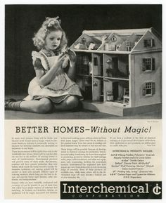 111.4245: Better homes--Without Magic! | advertisement | Dollhouses | Toys | Online Collections | The Strong