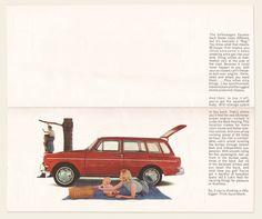 """1965 Volkswagen """"cut out"""" brochure I OldBrochures.com"""