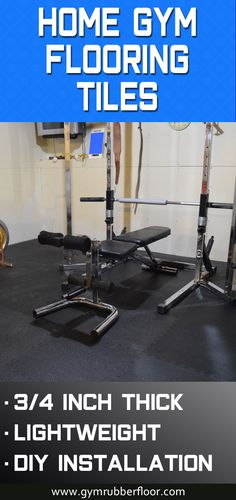 For a lightweight but durable home gym flooring, consider our Gym Floor Workout Pebble Tile. This home gym tile is made from a high density foam material that is designed to withstand the weight of exercise equipment. It is so durable that this tile is also used for portable horse stall mats.