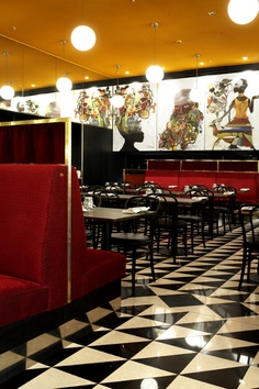 Prints of his african series were used for the interior Design of Rigoletto Restaurant in Stockholm