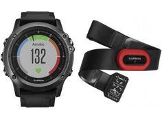 Relógio Monitor Cardíaco Garmin Fenix Saphira HR - Resistente à Água 010-01338-74