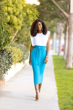 We are doing some maintenance on our site. Classy Work Outfits, Office Outfits Women, Office Fashion Women, Chic Outfits, Fashion Outfits, Pencil Skirt Casual, Pencil Skirt Outfits, High Waisted Pencil Skirt, Pencil Skirts