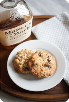 Oatmeal Bourbon Raisin Cookies