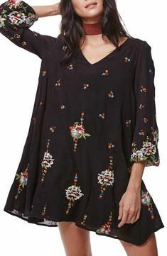 Free People Embroidered Minidress