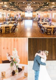 Classy country wedding decor at THE SPRINGS wedding venue.  Love this rustic wedding feel at THE SPRINGS and all of the wedding themes you can apply to it!  Wedding reception hall, southern wedding, rustic wedding