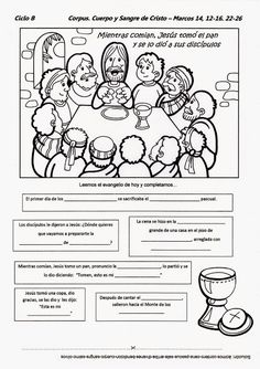 Catholic Catechism, Catholic Kids, Bible Study For Kids, Bible Lessons For Kids, Corpus Christie, Kids Church Decor, Religion Catolica, Sunday School Activities, Bible Coloring Pages