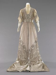 1908-10 Silk, pearl dress