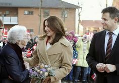 Crown Princess Mary of Denmark visited Lind Care and Activity Centre in Herning.