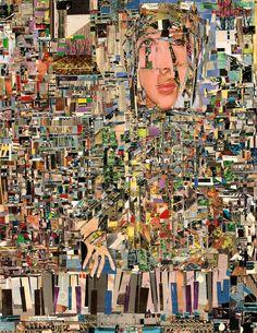 "Saatchi Art Artist: Alan Lew; Paper Collage ""self"""