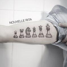 #nouvellerita #chess #tattoo #linework #blackworkers #tattrx