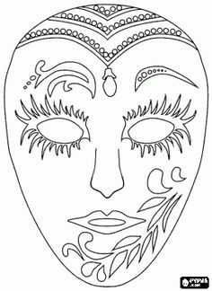 Home Decorating Style 2020 for Coloriage Masque Carnaval Maternelle, you can see Coloriage Masque Carnaval Maternelle and more pictures for Home Interior Designing 2020 11623 at SuperColoriage. Coloring Book Pages, Coloring Sheets, Clown Maske, Mask Drawing, Carnival Masks, Rio Carnival, Quilling Patterns, Masks Art, Venetian Masks