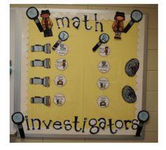 First Grader...at Last!  Math Investigators management board!