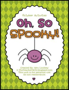 Oh, So SPOOKY! (October Activities) from The Teacher Wife