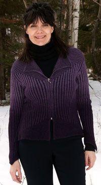 NEW! 100% alpaca in passionate purple! Tye Dye Angel Sweater by Peruvian Link