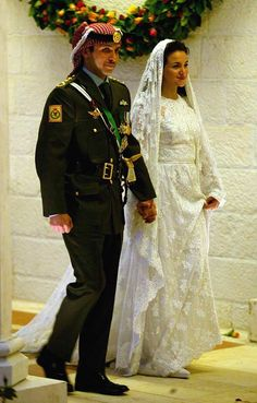 Princess Noor of Jordan married Prince Hamzah bin Al Hussein, her second cousin, May 27, 2004, at Zahran Palace in Amman. They divorced on September 9, 2009. Thereafter, Princess Noor reverted to the use of her maiden name HRH Princess Noor bint Asem.