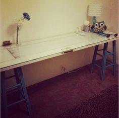 The antique door desk More