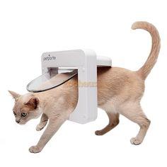 PetPorte SmartFlap Mikrochip Katzenklappe mit integriertem Tasso-Mikrochiplesegerät Weiß